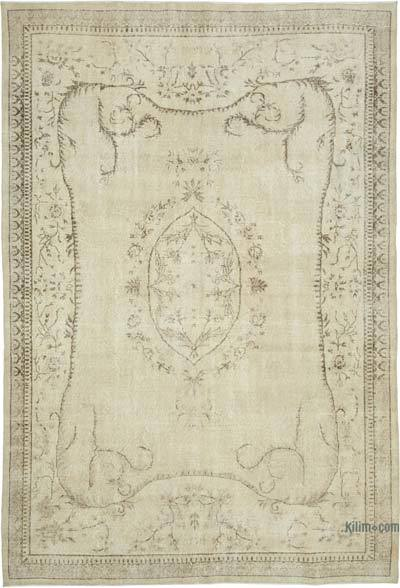 """Vintage Turkish Hand-knotted Area Rug - 7' 1"""" x 10' 2"""" (85 in. x 122 in.)"""