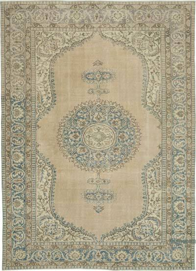 """Vintage Turkish Hand-knotted Area Rug - 7' 3"""" x 9' 11"""" (87 in. x 119 in.)"""