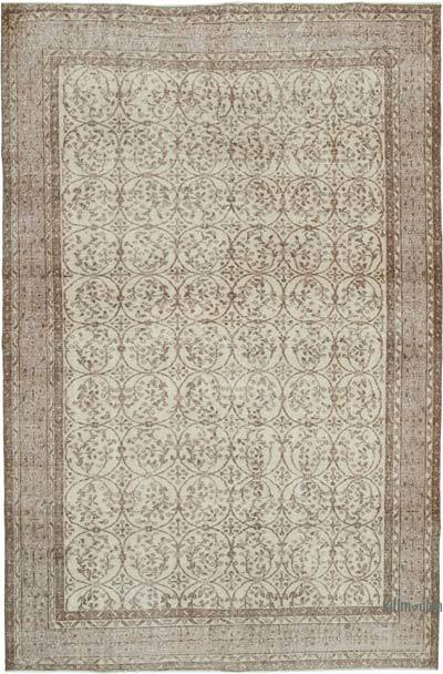 """Vintage Turkish Hand-knotted Area Rug - 6' 10"""" x 10' 6"""" (82 in. x 126 in.)"""