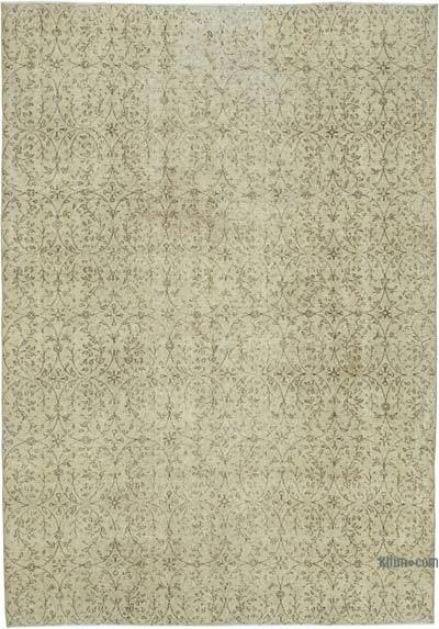 """Vintage Turkish Hand-knotted Area Rug - 6' 8"""" x 9' 4"""" (80 in. x 112 in.)"""