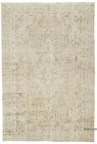 """Vintage Turkish Hand-Knotted Rug - 6' 10"""" x 10' 1"""" (82 in. x 121 in.)"""