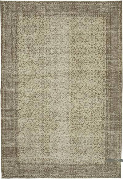 "Vintage Turkish Hand-knotted Area Rug - 7' 2"" x 10' 6"" (86 in. x 126 in.)"