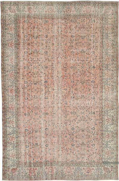 "Vintage Turkish Hand-knotted Area Rug - 6' 9"" x 10' 1"" (81 in. x 121 in.)"