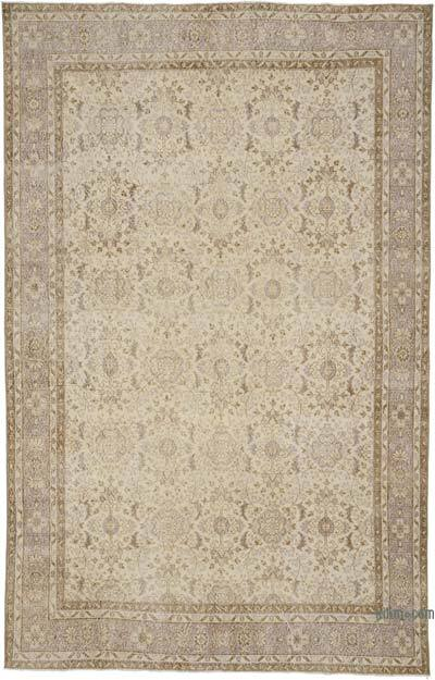 """Vintage Turkish Hand-knotted Area Rug - 6' 8"""" x 10' 4"""" (80 in. x 124 in.)"""