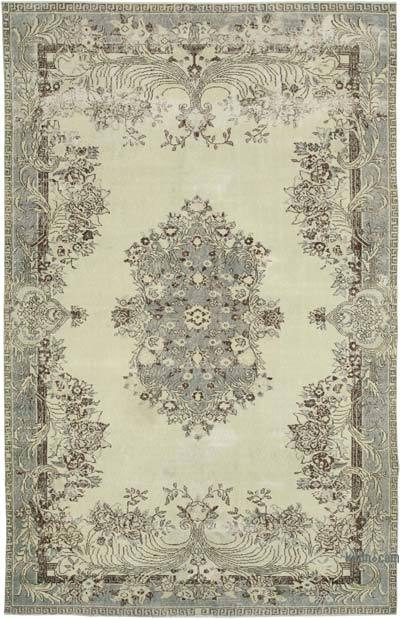 "Vintage Turkish Hand-knotted Area Rug - 6' 11"" x 10' 8"" (83 in. x 128 in.)"