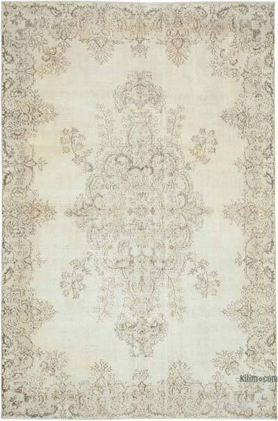 "Vintage Turkish Hand-knotted Area Rug - 6' 11"" x 10' 5"" (83 in. x 125 in.)"