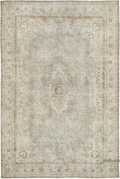 "Vintage Turkish Hand-knotted Area Rug - 6' 10"" x 10' 1"" (82 in. x 121 in.)"