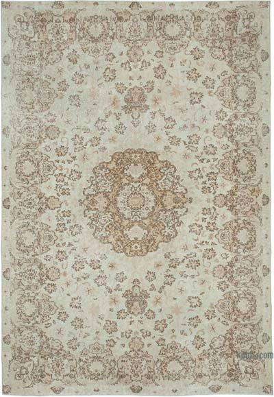 """Vintage Turkish Hand-knotted Area Rug - 8' 3"""" x 11' 8"""" (99 in. x 140 in.)"""