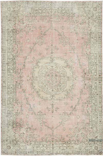 "Vintage Turkish Hand-knotted Area Rug - 6' 9"" x 10' 3"" (81 in. x 123 in.)"