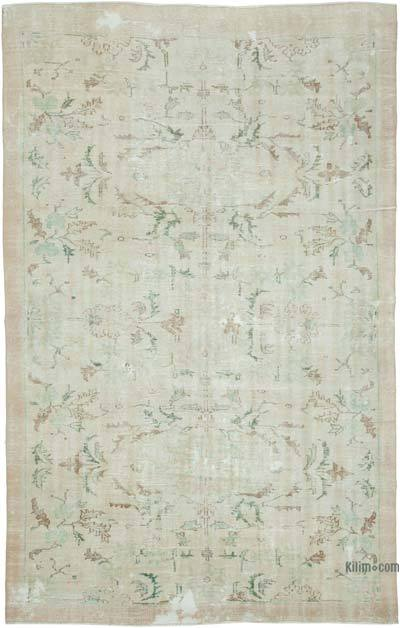 "Vintage Turkish Hand-knotted Area Rug - 7' 1"" x 10' 9"" (85 in. x 129 in.)"
