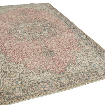 """Vintage Turkish Hand-Knotted Rug - 6' 8"""" x 10' 10"""" (80 in. x 130 in.) - K0048795"""