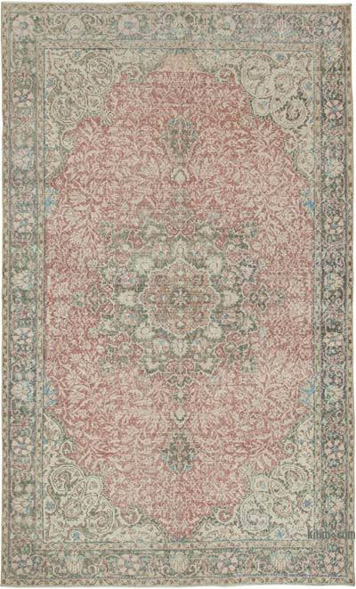 """Vintage Turkish Hand-knotted Area Rug - 6' 8"""" x 10' 10"""" (80 in. x 130 in.)"""