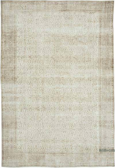 """Vintage Turkish Hand-knotted Area Rug - 6' 10"""" x 10'  (82 in. x 120 in.)"""