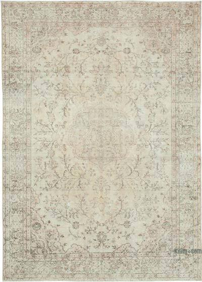 "Vintage Turkish Hand-knotted Area Rug - 6' 10"" x 9' 7"" (82 in. x 115 in.)"