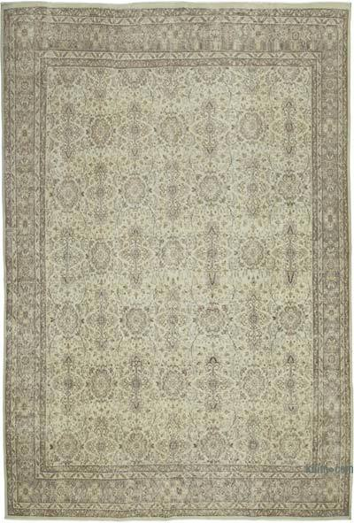 """Vintage Turkish Hand-knotted Area Rug - 7' 5"""" x 10' 9"""" (89 in. x 129 in.)"""