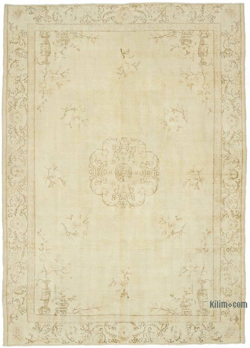 """Vintage Turkish Hand-Knotted Rug - 7' 3"""" x 10' 1"""" (87 in. x 121 in.) - K0048807"""