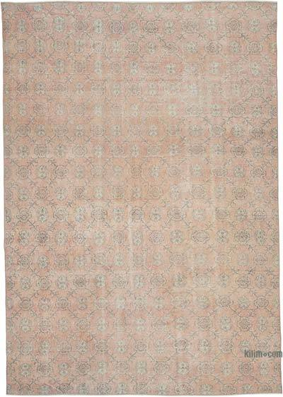 "Vintage Turkish Hand-knotted Area Rug - 7' 3"" x 10' 5"" (87 in. x 125 in.)"
