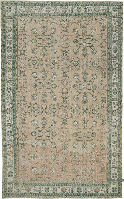 """Vintage Turkish Hand-Knotted Rug - 6' 10"""" x 11' 1"""" (82 in. x 133 in.)"""