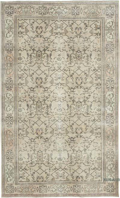 "Vintage Turkish Hand-knotted Area Rug - 6' 6"" x 10' 8"" (78 in. x 128 in.)"