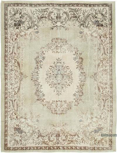 "Vintage Turkish Hand-knotted Area Rug - 7' 3"" x 9' 6"" (87 in. x 114 in.)"