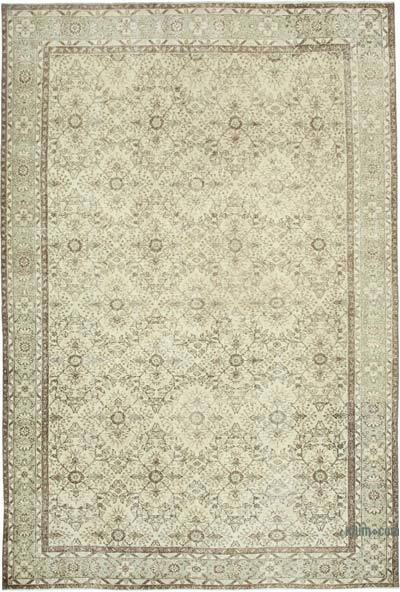 "Vintage Turkish Hand-knotted Area Rug - 6' 11"" x 10'  (83 in. x 120 in.)"