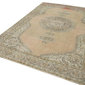 """Vintage Turkish Hand-Knotted Rug - 6' 11"""" x 10' 6"""" (83 in. x 126 in.) - K0048832"""