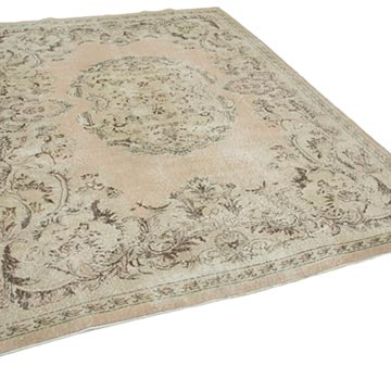 """Vintage Turkish Hand-Knotted Rug - 6' 11"""" x 9' 9"""" (83 in. x 117 in.) - K0048835"""
