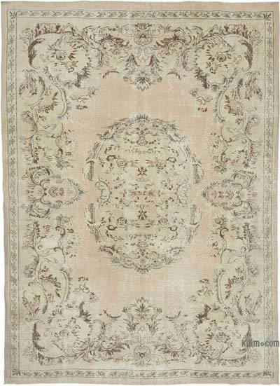 "Vintage Turkish Hand-knotted Area Rug - 6' 11"" x 9' 9"" (83 in. x 117 in.)"