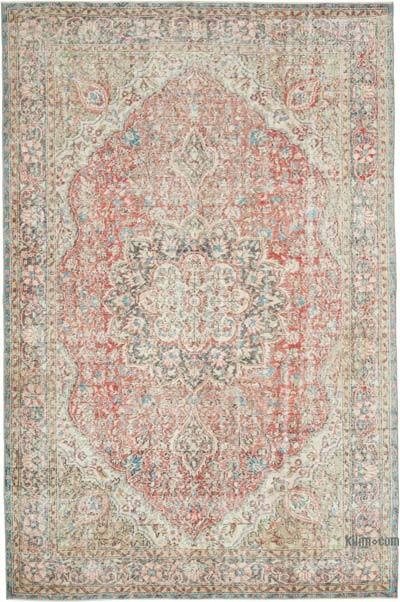 """Vintage Turkish Hand-knotted Area Rug - 6' 8"""" x 10' 2"""" (80 in. x 122 in.)"""