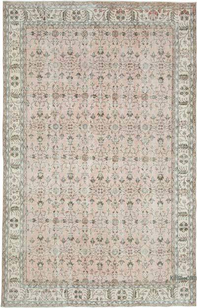 "Vintage Turkish Hand-knotted Area Rug - 6' 11"" x 10' 6"" (83 in. x 126 in.)"