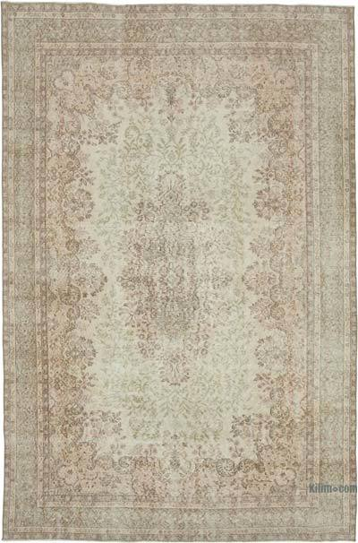 """Vintage Turkish Hand-knotted Area Rug - 7'  x 10' 8"""" (84 in. x 128 in.)"""