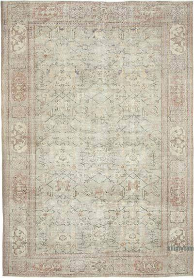 "Vintage Turkish Hand-knotted Area Rug - 6' 11"" x 9' 11"" (83 in. x 119 in.)"