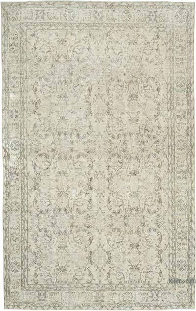 """Vintage Turkish Hand-knotted Area Rug - 6' 6"""" x 10' 4"""" (78 in. x 124 in.)"""