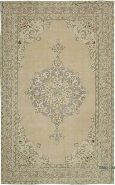 """Vintage Turkish Hand-knotted Area Rug - 6' 9"""" x 10' 10"""" (81 in. x 130 in.)"""