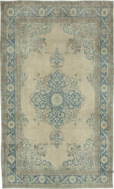 "Vintage Turkish Hand-knotted Area Rug - 6' 11"" x 11' 3"" (83 in. x 135 in.)"