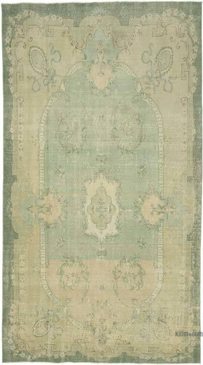 Vintage El Dokuma Anadolu Halısı - 194 cm x 348 cm