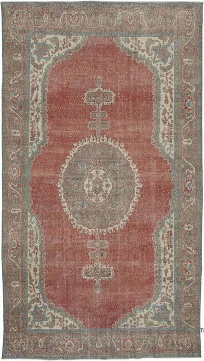 "Vintage Turkish Hand-knotted Area Rug - 6' 10"" x 11' 10"" (82 in. x 142 in.)"
