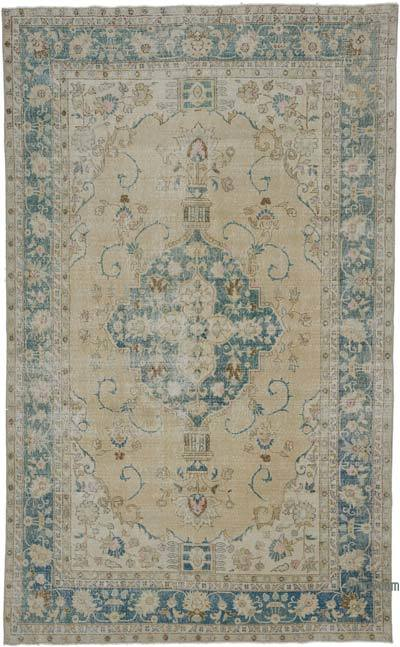 "Vintage Turkish Hand-knotted Area Rug - 6' 6"" x 10' 6"" (78 in. x 126 in.)"