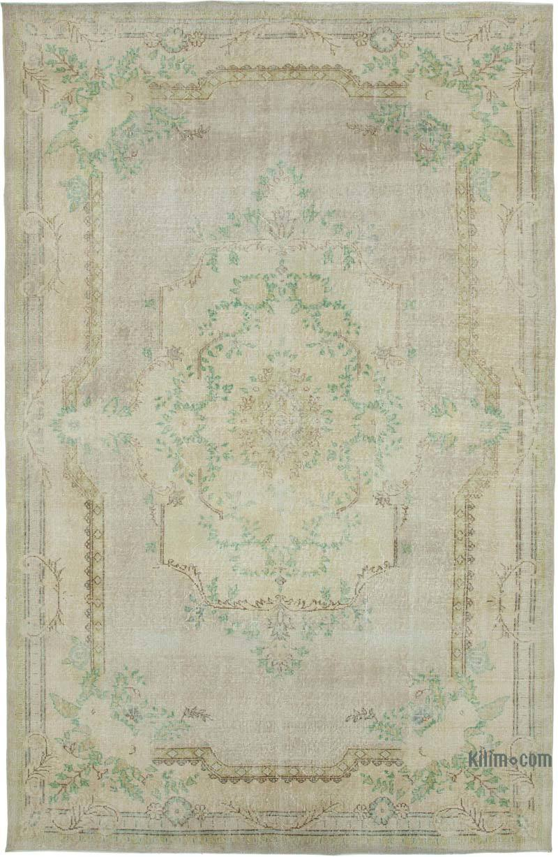 """Vintage Turkish Hand-Knotted Rug - 6' 9"""" x 10' 7"""" (81 in. x 127 in.) - K0048852"""