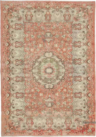 """Vintage Turkish Hand-knotted Area Rug - 7' 1"""" x 10' 3"""" (85 in. x 123 in.)"""