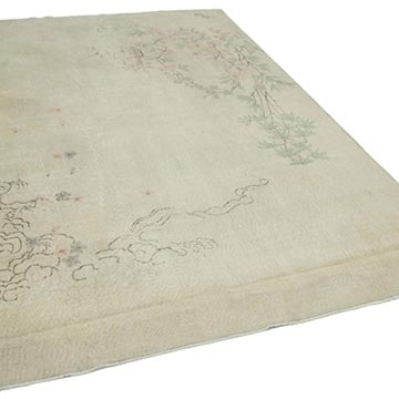 """Vintage Turkish Hand-Knotted Rug - 6' 8"""" x 10' 2"""" (80 in. x 122 in.) - K0048859"""