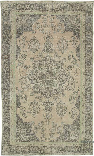 "Vintage Turkish Hand-knotted Area Rug - 6' 9"" x 11' 2"" (81 in. x 134 in.)"