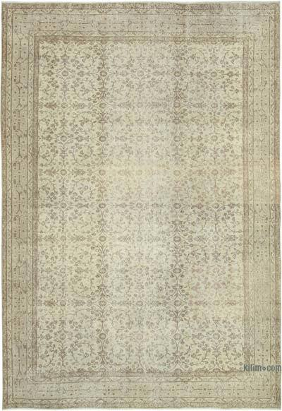 """Vintage Turkish Hand-Knotted Rug - 6' 11"""" x 10'  (83 in. x 120 in.)"""