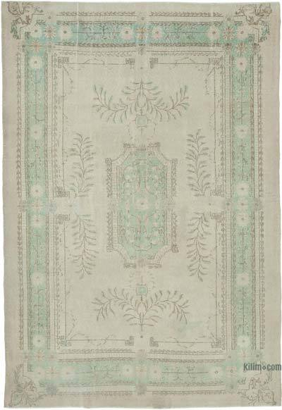 """Vintage Turkish Hand-knotted Area Rug - 7' 6"""" x 10' 10"""" (90 in. x 130 in.)"""