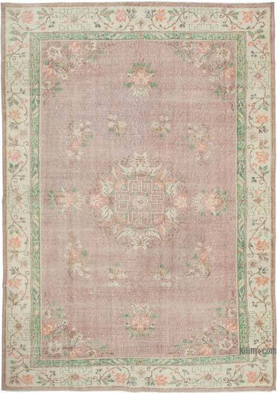 """Vintage Turkish Hand-Knotted Rug - 7' 2"""" x 10'  (86 in. x 120 in.)"""
