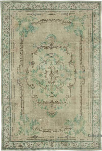 """Vintage Turkish Hand-knotted Area Rug - 7' 2"""" x 10' 6"""" (86 in. x 126 in.)"""