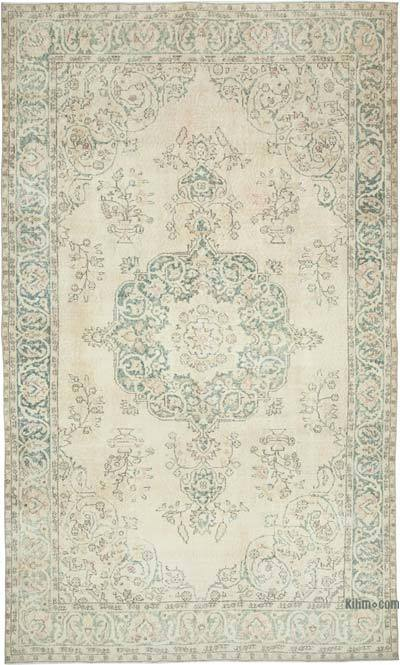 """Vintage Turkish Hand-Knotted Rug - 6' 5"""" x 10' 7"""" (77 in. x 127 in.)"""