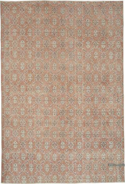 "Vintage Turkish Hand-knotted Area Rug - 7' 3"" x 10' 6"" (87 in. x 126 in.)"