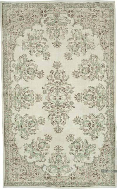 """Vintage Turkish Hand-knotted Area Rug - 7' 3"""" x 11' 3"""" (87 in. x 135 in.)"""