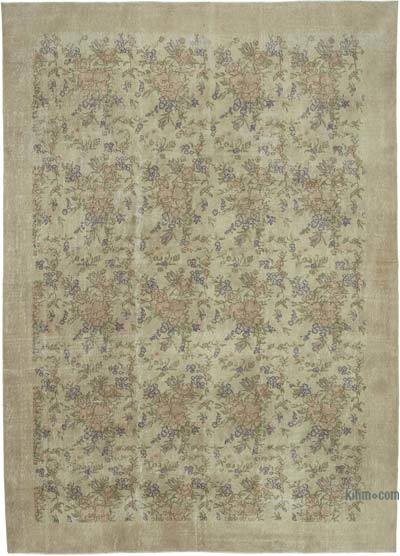 "Vintage Turkish Hand-knotted Area Rug - 7' 10"" x 10' 9"" (94 in. x 129 in.)"